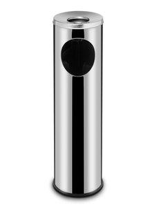 Hendi Afvalbak met asbak | RVS | Ø20x(H)70cm