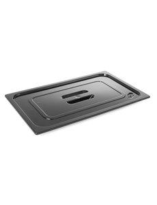 Hendi Gastronormdeksel 1/6 Polycarbonaat zwart | 176x162mm.