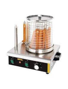 Buffalo Hotdog  Worstenwarmer met 2 Warmhoudpennen | 550Watt | 37(h)x41(b)x34(d)cm
