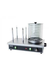 Saro Hotdog Worstenwarmer met 4 Broodpennen | 650Watt |  0 / +110 °C