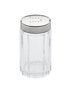 EMGA Zoutstrooier | RVS / Glas | Hoogte 7 cm.