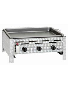 Bartscher Gasbarbecue met Bakplaat en 3 Branders | B 650 x D 570 x H 270 mm