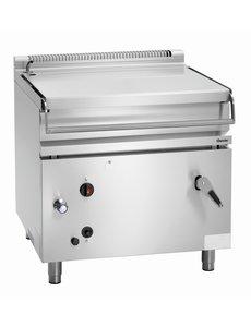 Bartscher Gas Handmatig Kantelbare Braadpan | 80 Liter | 22kW Gas | B 900 x D 900 x H 900 mm