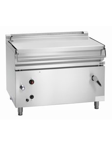 Bartscher Gas Handmatig Kantelbare Braadpan | 120 Liter | 30kW Gas | B 1.200 x D 900 x H 900 mm