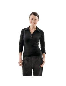 Chef Works Dames Shirt Zwart met V-Hals | Keuze uit 5 maten