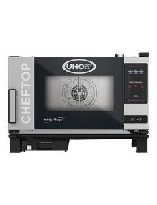 UNOX ChefTop Combisteamer MindMaps ONE met Greep Links | 3x GN1/1 | 400V/5.2kW | 54(H)x75x78cm