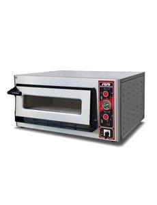 Saro Pizzaoven voor 4 Pizza's van Max. Ø 30 cm.   400V/5kW   B895xD875xH440 mm.
