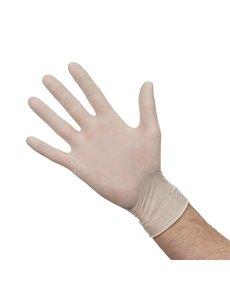 Latex handschoenen wit gepoederd M | 100 stuks