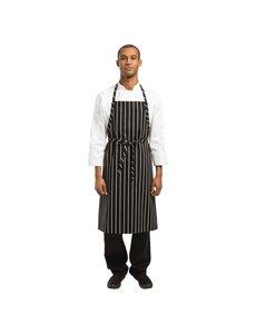 Chef Works Chef Works Premium geweven schort zwart-wit gestreept