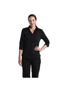 Chef Works Uniform Works dames stretch shirt zwart M