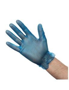 Vogue Vinyl handschoenen blauw gepoederd Maat L | 100 stuks