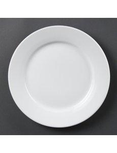 Olympia Olympia Whiteware borden met brede rand 25cm