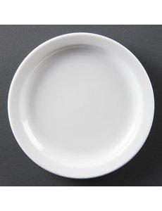 Olympia Olympia Whiteware borden met smalle rand 15cm