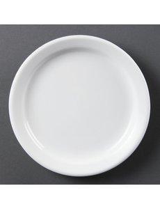 Olympia Olympia Whiteware borden met smalle rand 18cm