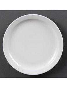 Olympia Olympia Whiteware borden met smalle rand 25cm