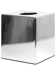 Bolero Vierkante tissuebox van chroom | Geschikt voor CF204