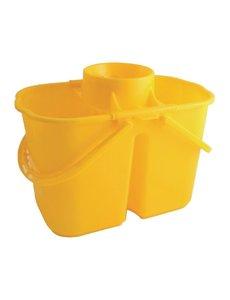 Jantex Jantex kleurcode dubbele mopemmer geel