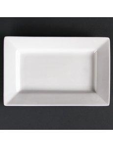 Lumina Fine China Lumina rechthoekige schalen met brede rand 20x13cm