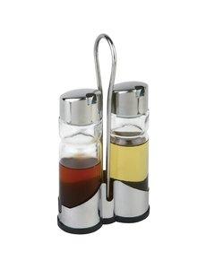 APS Menage tafelset olie- en azijnset met houder | 11.5x5.4xH21.5cm.