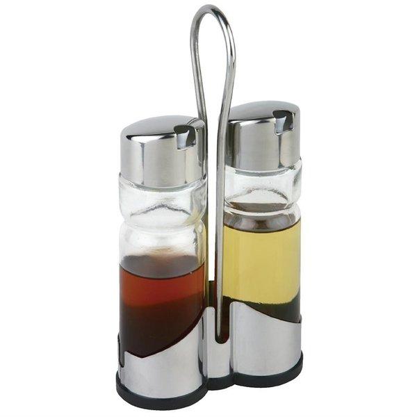 APS APS Menage tafelset olie- en azijnset met houder | 11.5x5.4xH21.5cm.