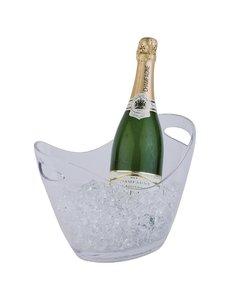 APS Champagne koeler voor 2 flessen acryl transparant | 20x27xH21cm.