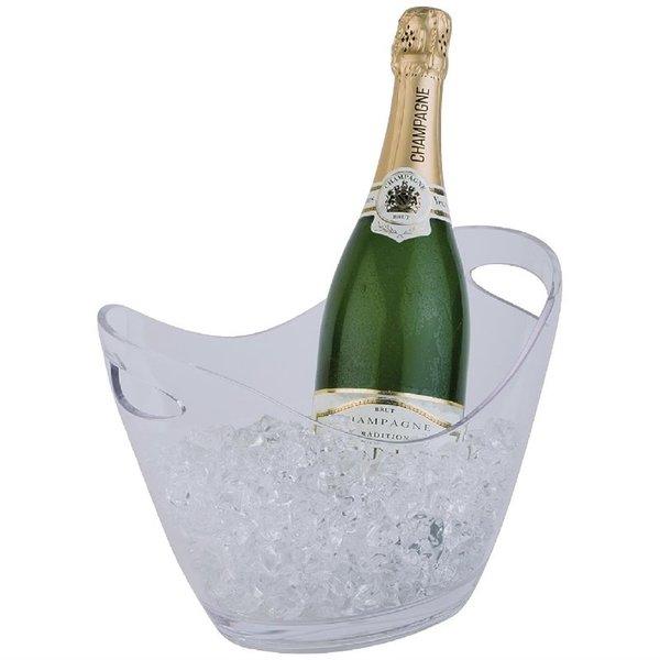 APS APS Champagne koeler voor 2 flessen acryl transparant | 20x27xH21cm.