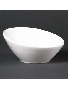 Lumina Fine China Hellende ovale schalen 14.8cm | 6 stuks