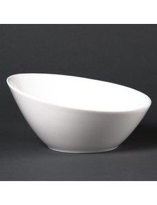 Lumina Fine China Hellende ovale schalen 20,2cm | 6 stuks