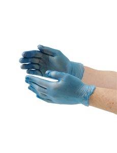 Vogue Vinyl handschoenen blauw poedervrij Maat L | 100 stuks