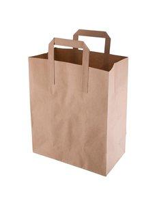 Fiesta Green Bruine papieren tassen recyclebaar medium | 25x21xD11.5cm. | 250 stuks