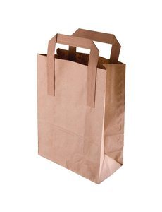 Fiesta Green Bruine papieren tassen recyclebaar groot | 30x25xD14cm. | 250 stuks