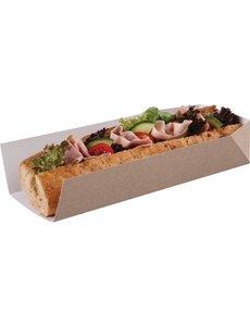 Composteerbare baguettedoosjes met open zijde 25x8xH5cm | 500 stuks