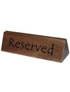 Olympia Acaciahouten reserveerbordje en menuhouder met sleuf | 10 stuks
