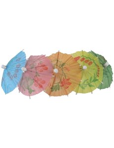 Fiesta Green Papieren parasol cocktailprikkers assorti
