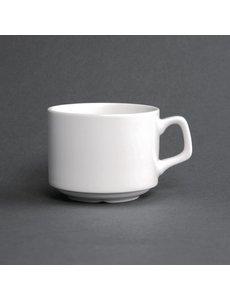 Lumina Fine China Koffie kopjes stapelbaar  20cl | 6 stuks