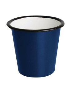 Olympia Emaille sauspotje blauw en zwart 11,4cl | Per 6 stuks