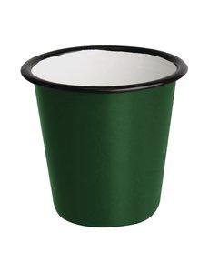 Olympia Emaille sauspotje groen en zwart 11,4cl | Per 6 stuks