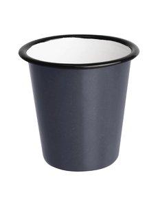 Olympia Emaille beker grijs 31cl | Per 6 stuks