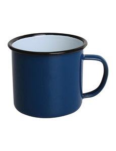 Olympia Emaille mok blauw 35cl | Per 6 stuks