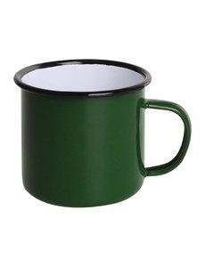 Olympia Emaille mok groen 35cl | Per 6 stuks