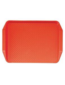 Cambro Cambro polypropyleen fastfood dienblad met handvatten rood 43x30cm