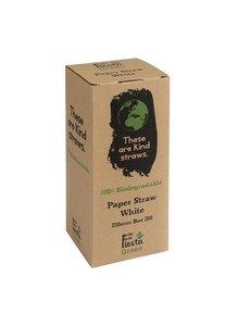 Fiesta Green Fiesta Green composteerbare papieren rietjes wit