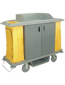 Jantex Huishoudwagen met deuren | 2x 90 liter zakken