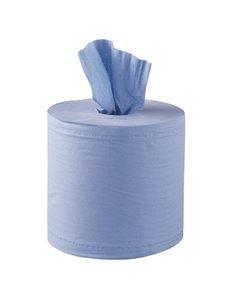 Jantex Centrefeed Handdoekrollen 2-laags Blauw 120m | Ca. 324 vellen per rol | 6 stuks