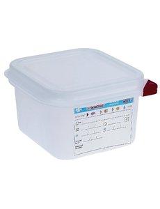 Araven Voedseldoos met deksel 1.7 liter   GN1/6 - 100mm.   4 stuks