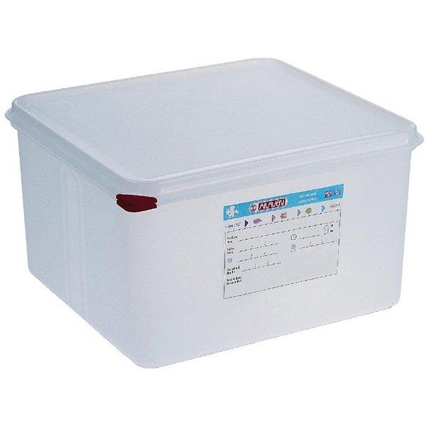 Araven Araven Voedseldoos met deksel 19 liter | GN2/3 - 200mm. | 4 stuks