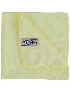 Jantex Microvezeldoeken 90% polyester geel | 40x40cm. | 5 stuks
