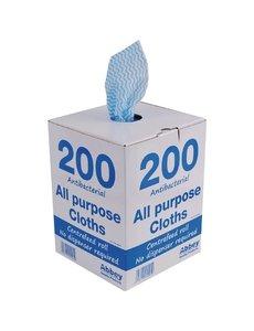 Jantex Multifunctionele antibacteriële doekjes blauw | 200 stuks