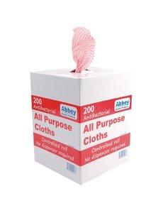 Jantex Multifunctionele antibacteriële doekjes rood | 200 stuks