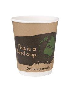 Fiesta Green Composteerbare dubbelwandige koffiebekers 22.7 cl. | Per 500 stuks
